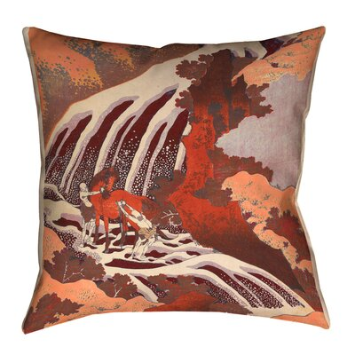 Yasmina Horse and Waterfall Lumbar Pillow Size: 16 x 16