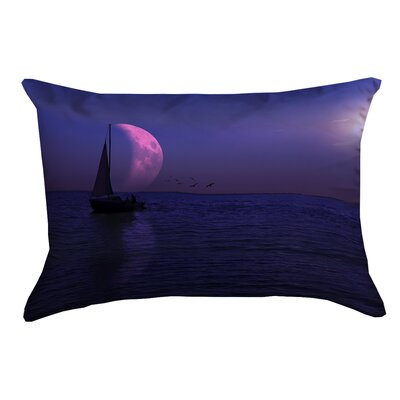 Jada Moon and Sailboat Outdoor Lumbar pillow