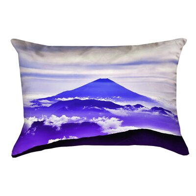 Enciso Fuji Outdoor Lumbar pillow Color: Blue/Purple