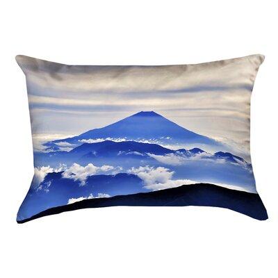 Enciso Fuji Outdoor Lumbar pillow Color: Blue