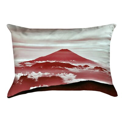 Katherine Fuji Linen Pillow Cover Color: Red