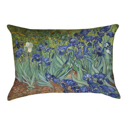 Morley Irises Double Sided Print Rectangle Pillow Cover Color: Blue/Green