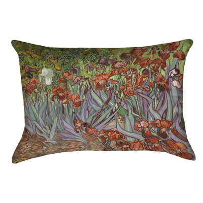Morley Irises Double Sided Print Rectangle Pillow Cover Color: Orange