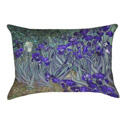 Morley Irises Lumbar Pillow Color: Purple/Green