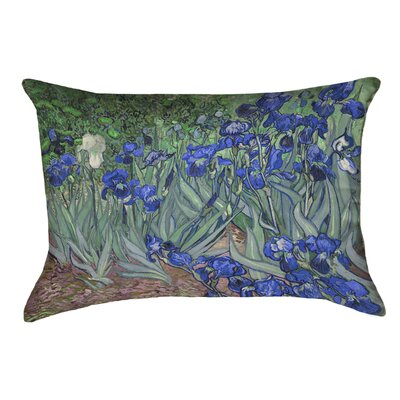 Morley Irises Linen Lumbar Pillow Color: Blue