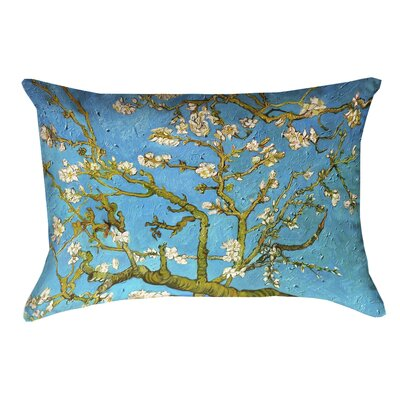 Lei Almond Blossom 100% Cotton Lumbar Pillow Color: Blue/Yellow