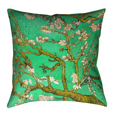 Lei Almond Blossom Floor Pillow Color: Green, Size: 28 x 28