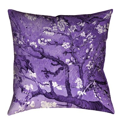 Lei Almond Blossom Throw Pillow Size: 20 x 20, Color: Purple
