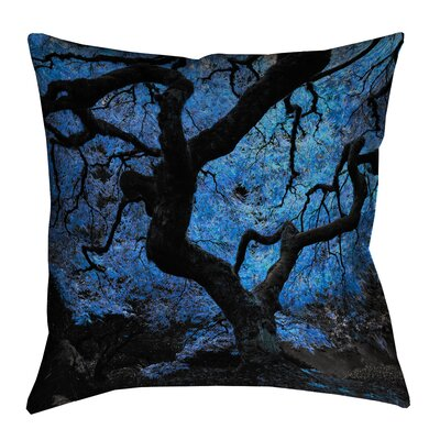 Ghost Train Japanese Maple Tree Outdoor Throw Pillow Size: 16 H x 16 W