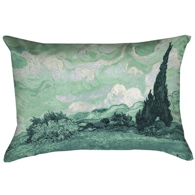 Keating Green Wheatfield Lumbar Pillow Size: 14 x 14