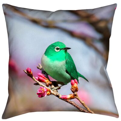 Carmina Smith Bird Pillow Cover Size: 18 x 18