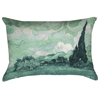 Amiee Wheatfield with Cypresses Double Sided Print Cotton Lumber Pillow