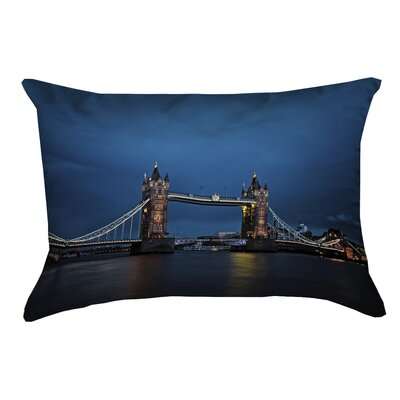 Holter Tower Bridge Faux Linen Lumbar Pillow