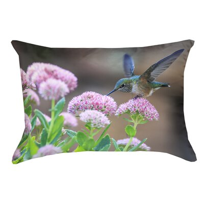 Holte Hummingbird Faux Linen Lumbar Pillow