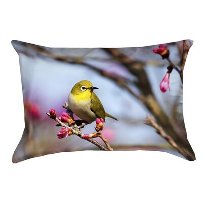 Holston Bird Fauc Suede Lumbar Pillow