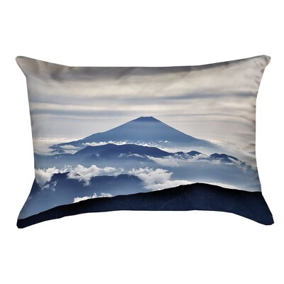Hashimoto A View of Mt. Fuji Suede Lumbar Pillow