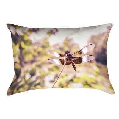 Hargis Dragonfly Cotton Lumbar Pillow