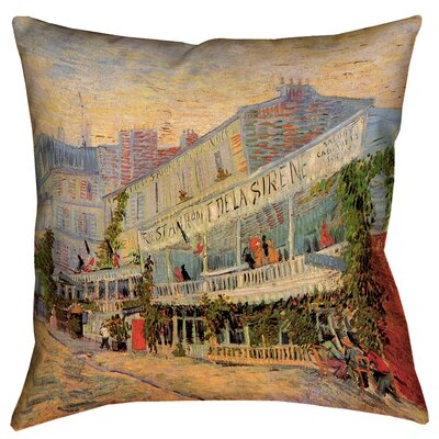Bristol Woods Restaurant de la Sirene Square Pillow Cover Size: 16 x 16