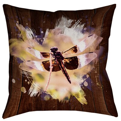 Hansard Watercolor Dragonfly Floor Pillow Size: 28 x 28