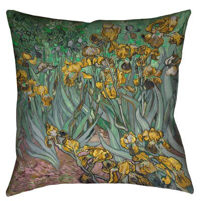 Bristol Woods Irises Floor Pillow Size: 28 x 28, Color: Yellow