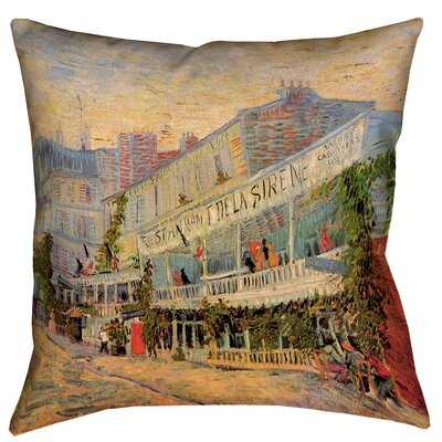 Bristol Woods Restaurant de la Sirene 100% Cotton Throw Pillow Size: 18 x 18