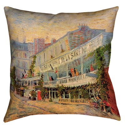 Bristol Woods Restaurant de la Sirene Cotton Pillow Cover Size: 18 x 18