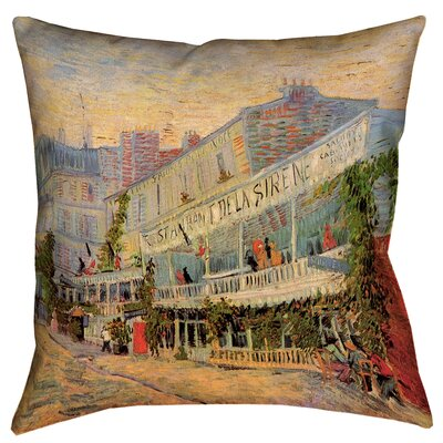 Bristol Woods Restaurant de la Sirene Square Throw Pillow Size: 18 x 18