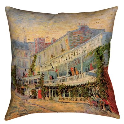 Bristol Woods Restaurant de la Sirene Waterproof Throw Pillow Size: 18 x 18