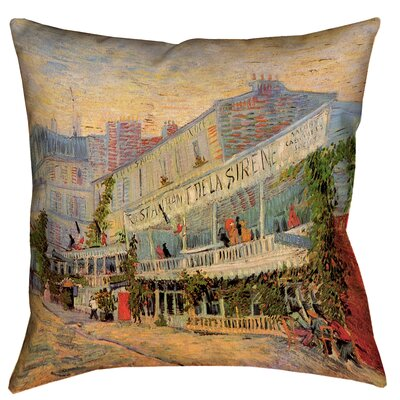Bristol Woods Restaurant de la Sirene Throw Pillow with Concealed Zipper Size: 16 x 16