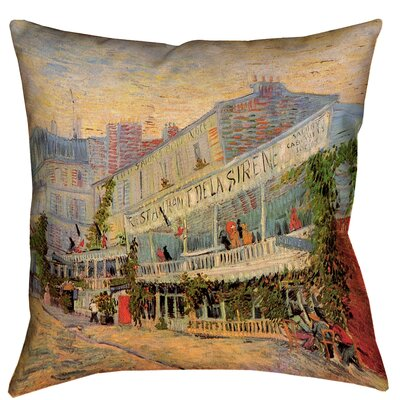 Bristol Woods Restaurant de la Sirene Outdoor Throw Pillow Size: 16 x 16