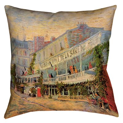 Bristol Woods Restaurant de la Sirene Throw Pillow Size: 16 x 16