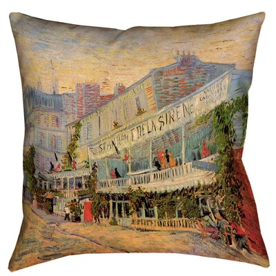 Bristol Woods Restaurant de la Sirene Linen Throw Pillow Size: 16 x 16