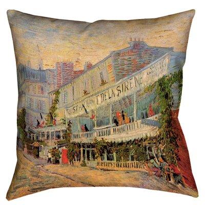 Bristol Woods Restaurant de la Sirene Linen Pillow Cover Size: 26 x 26