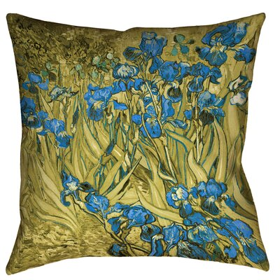 Bristol Woods Irises Square Throw Pillow Size: 14 x 14, Color: Yellow