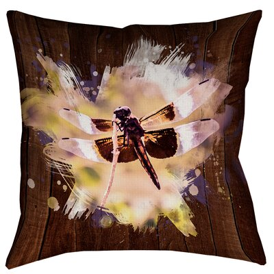 Hansard Watercolor Dragonfly Zipper Throw Pillow Size: 14 x 14