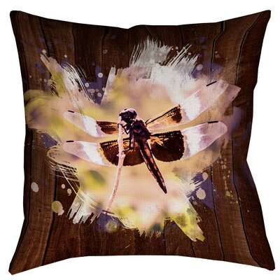 Hansard Watercolor Dragonfly Double Sided Print Pillow Cover Size: 16 x 16