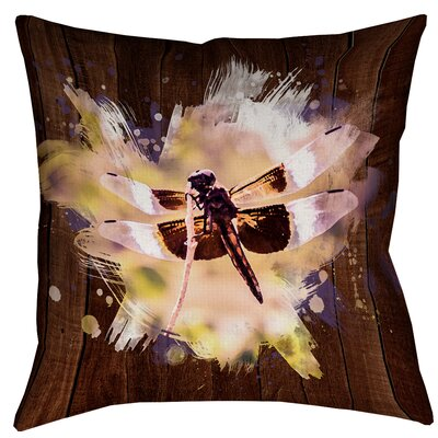 Hansard Watercolor Dragonfly Throw Pillow Size: 14 x 14
