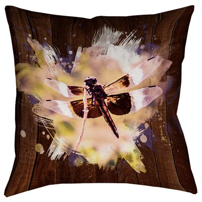 Hansard Watercolor Dragonfly Double Sided Print Square Pillow Cover Size: 26 x 26