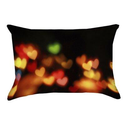 Josi Heart Lights Pillow Cover Material: Faux Linen