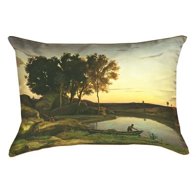 Swissvale Lake and Boatman Lumbar Pillow