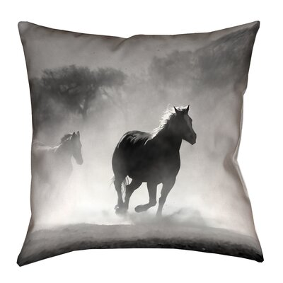 Aminata Galloping Horses Square Double Sided Print Throw Pillow Size: 28 x 28