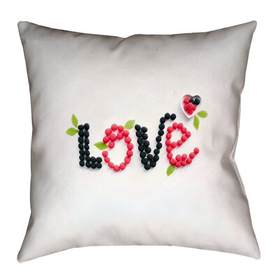 Buoi Love and Berries Double Sided Print Throw Pillow Size: 40 x 40