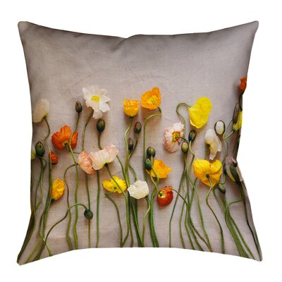 Tuyen Square Dried Flowers Double Sided Print Throw Pillow Size: 40 x 40