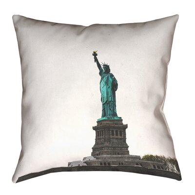 Phan Statue of Liberty Double Sided Print Throw Pillow Size: 28 x 28