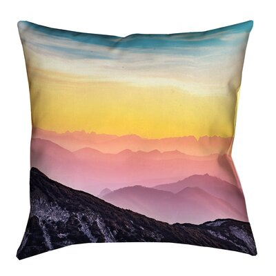 Thang Pastel Landscape Zipper Throw Pillow Size: 16 x 16