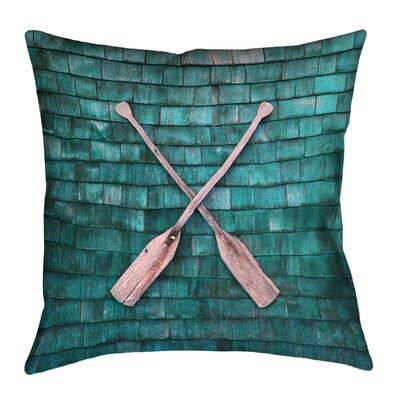 Brushton Rustic Oars Square Throw Pillow Size: 14 x 14