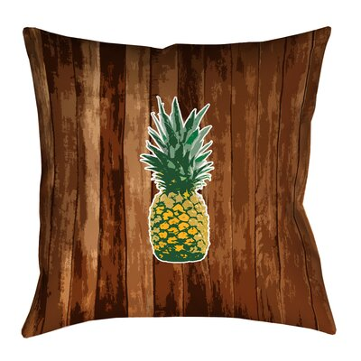 Enciso Pineapple 100% Cotton Pillow Cover Size: 18 x 18