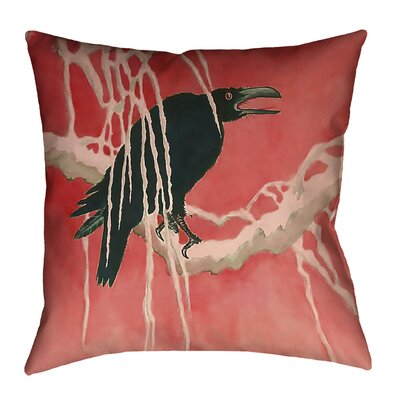 Montreal Crow and Willow 100% Cotton Throw Pillow Size: 20 x 20