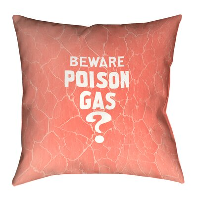 Square Vintage War Poison Gas Throw Pillow Size: 16 x 16