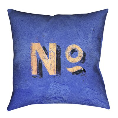 Enciso Graphic Wall 100% Cotton Pillow Cover Size: 16 x 16, Color: Blue/Beige
